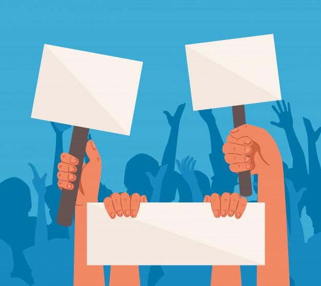 mains-pancartes-protestations-tenant-bannieres-activiste-signe-manifestation-greve-concept-droit-homme_24877-67171
